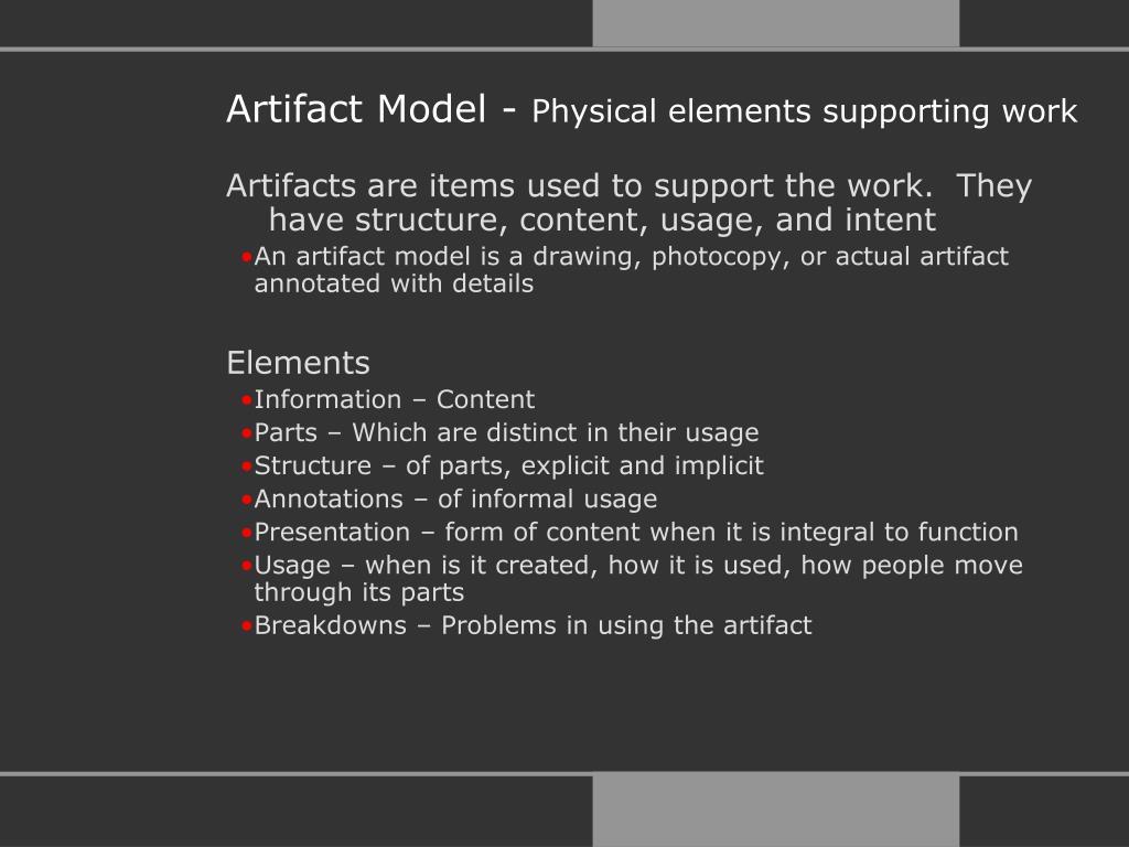 Artifact Model -