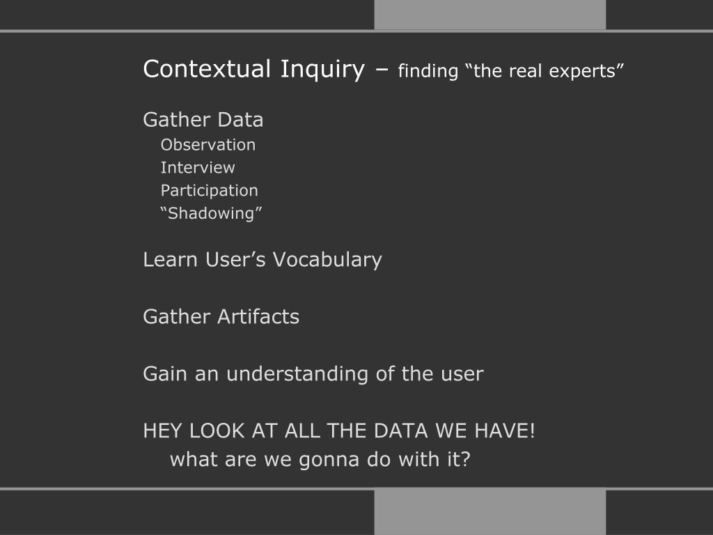 Contextual Inquiry –