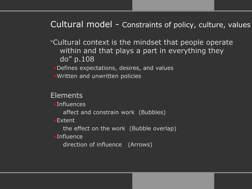 Cultural model -