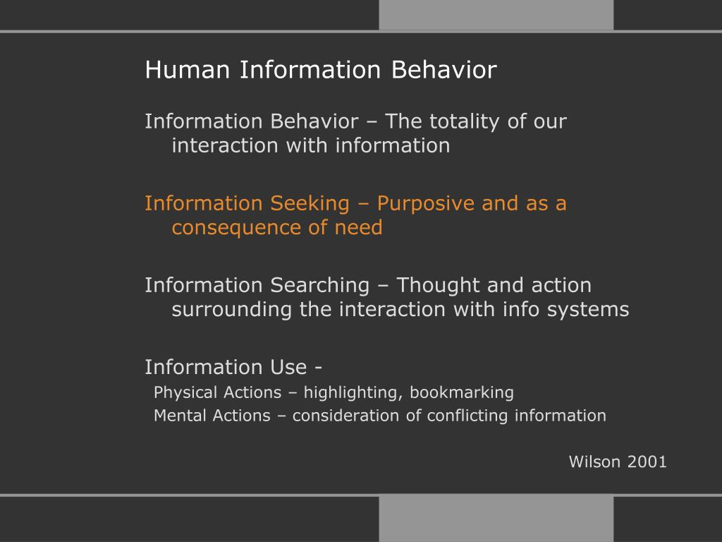 Human Information Behavior