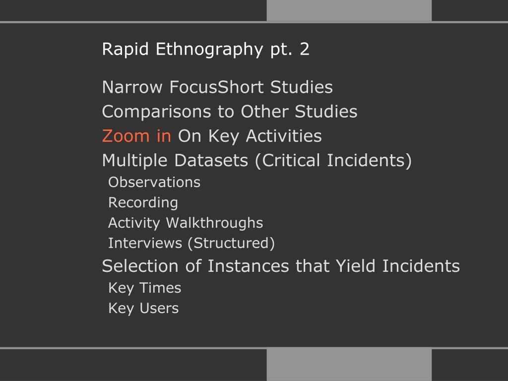 Rapid Ethnography pt. 2