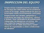 inspeccion del equipo30