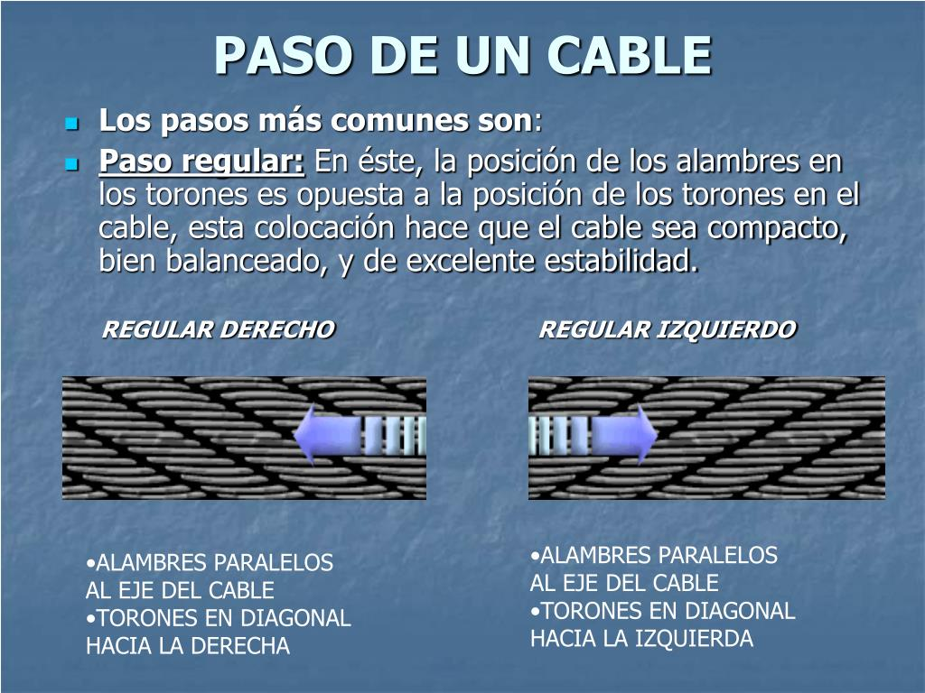 PASO DE UN CABLE