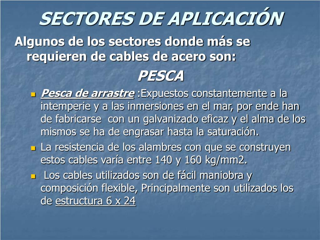 SECTORES DE APLICACIÓN