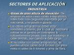sectores de aplicaci n50