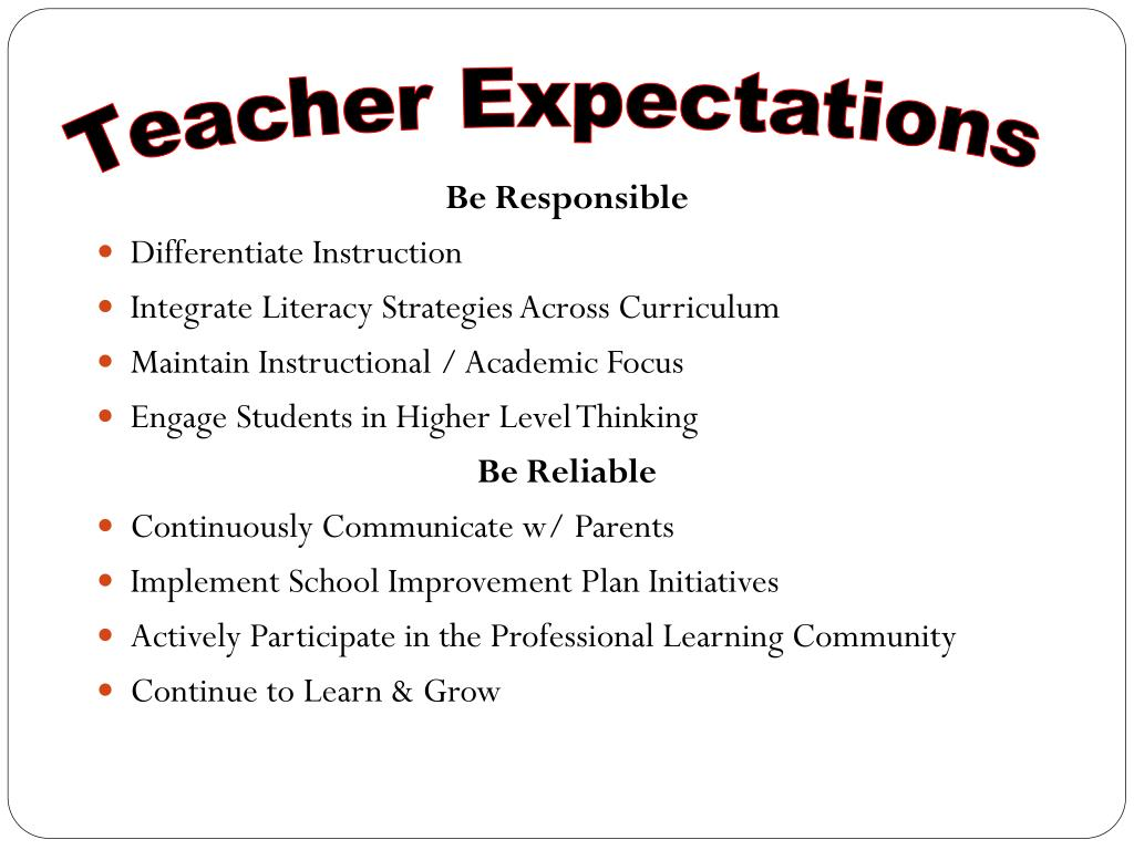 Teacher Expectations