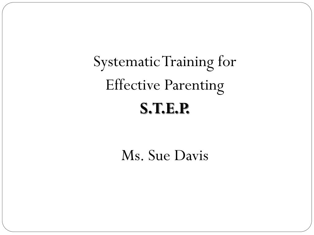 Systematic Training for