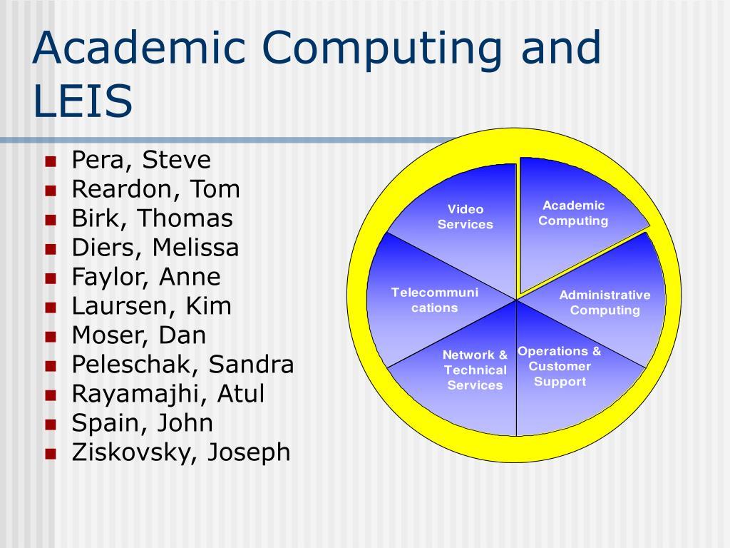 Academic Computing and LEIS