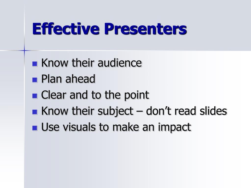 Effective Presenters