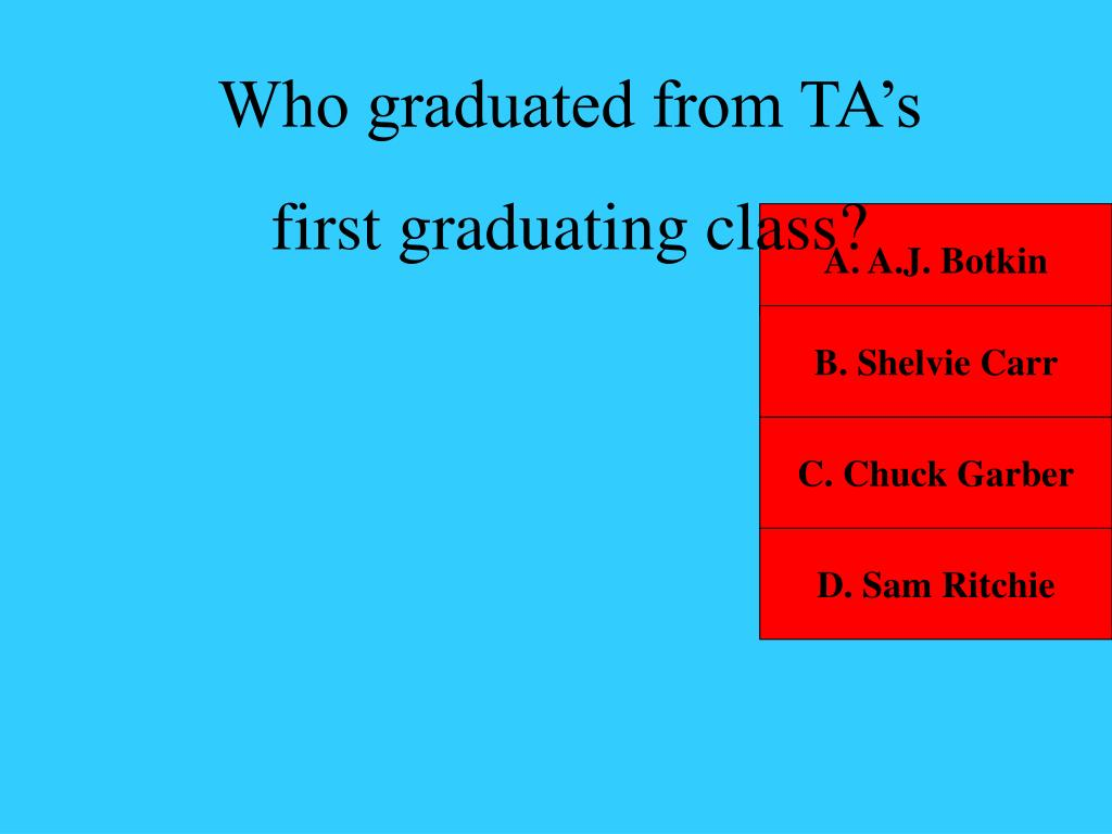 Who graduated from TA's