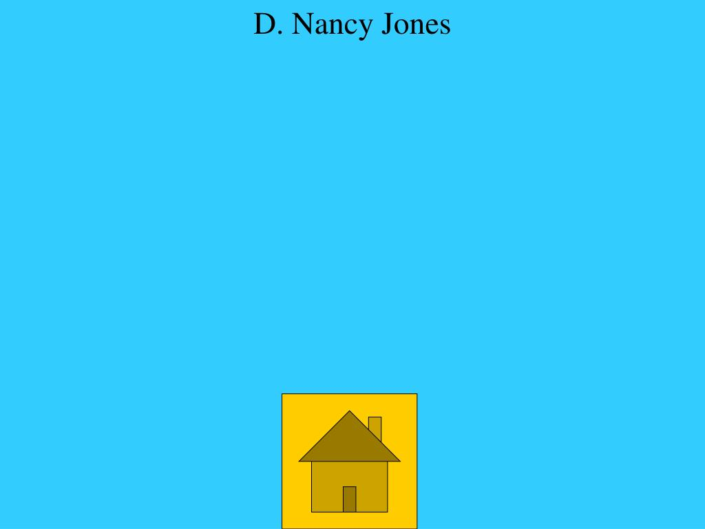 D. Nancy Jones