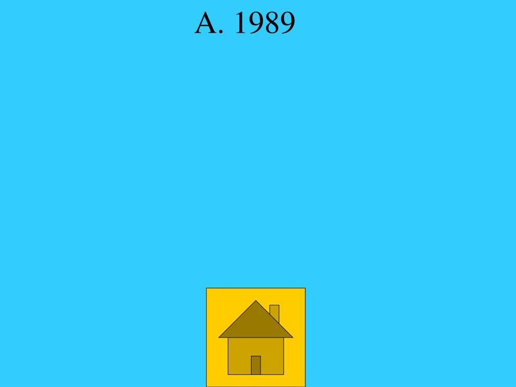 A. 1989