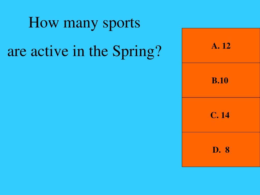 How many sports