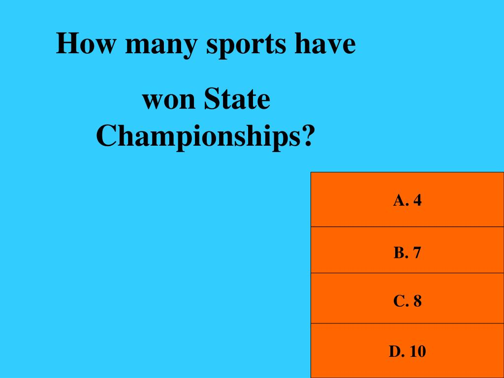 How many sports have