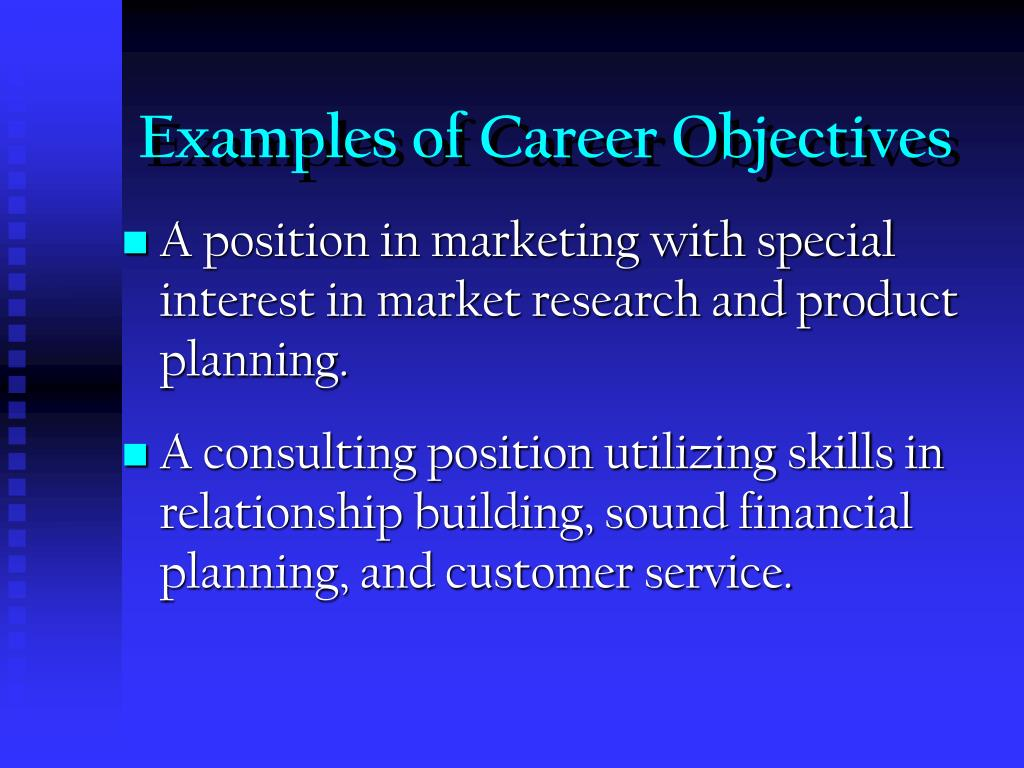 Examples of Career Objectives