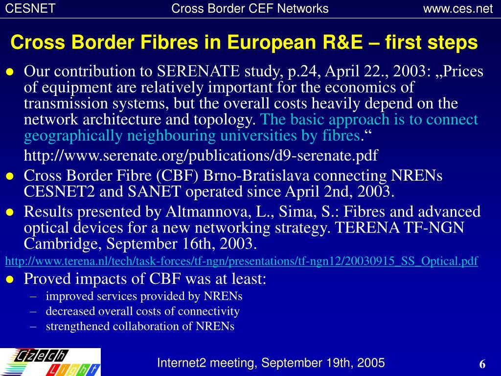Cross Border Fibres in European