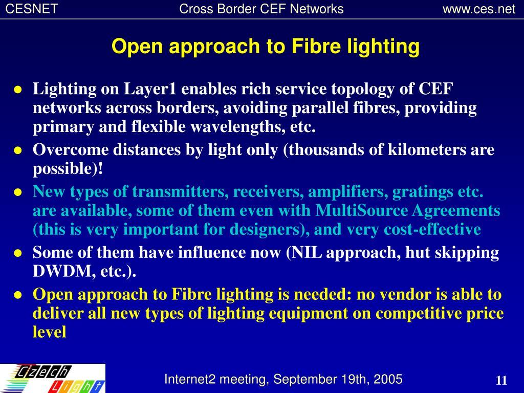 Open approach to Fibre lighting