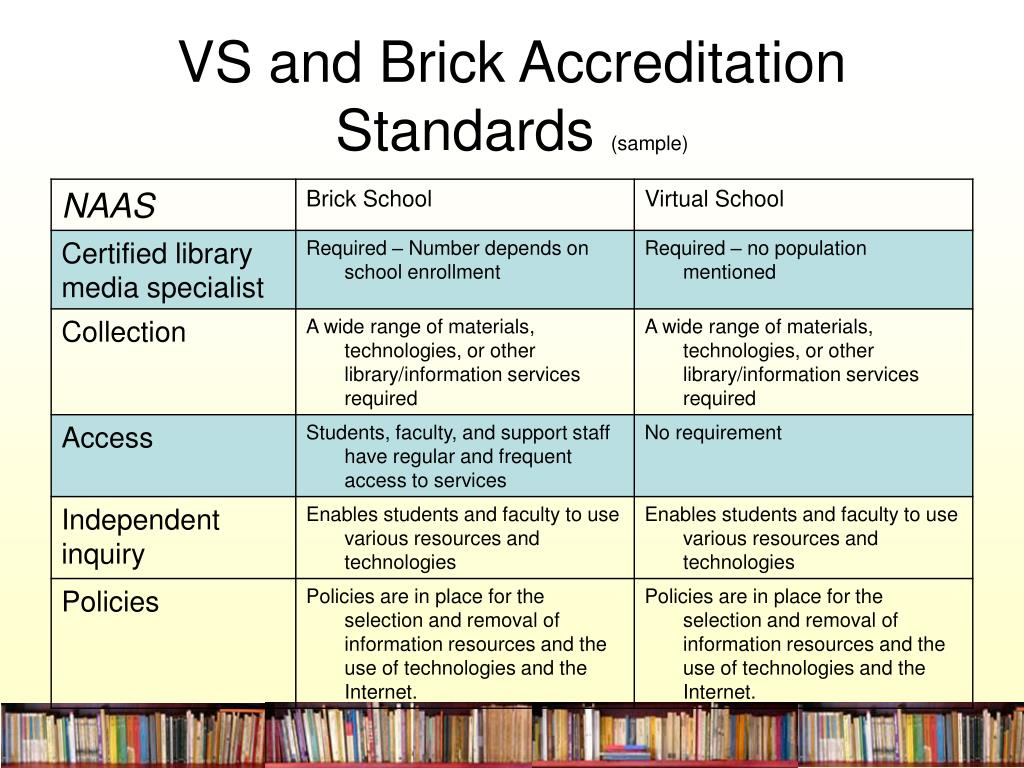 VS and Brick Accreditation Standards