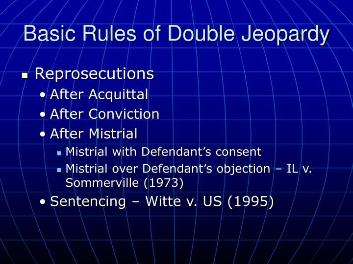 """fifth amendment and double jeopardy essay The double-jeopardy clause of the fifth amendment to essay """"a brief history of the fifth amendment for the future of freedom foundation."""
