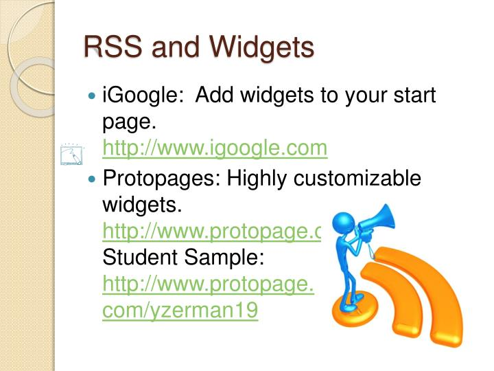 RSS and Widgets