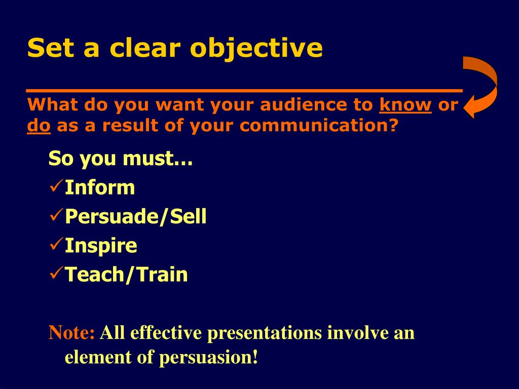 What do you want your audience to