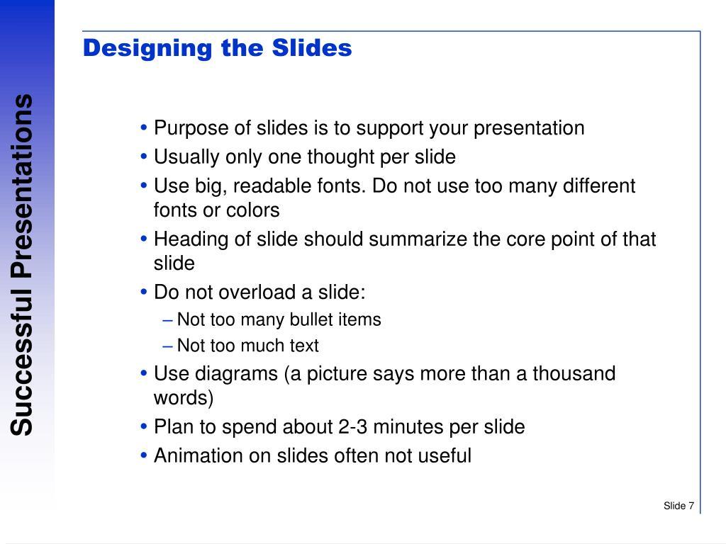 Designing the Slides