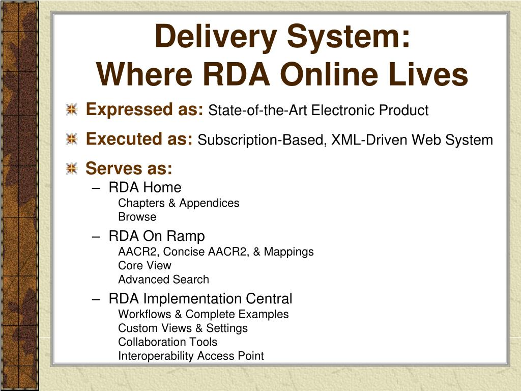 Delivery System: