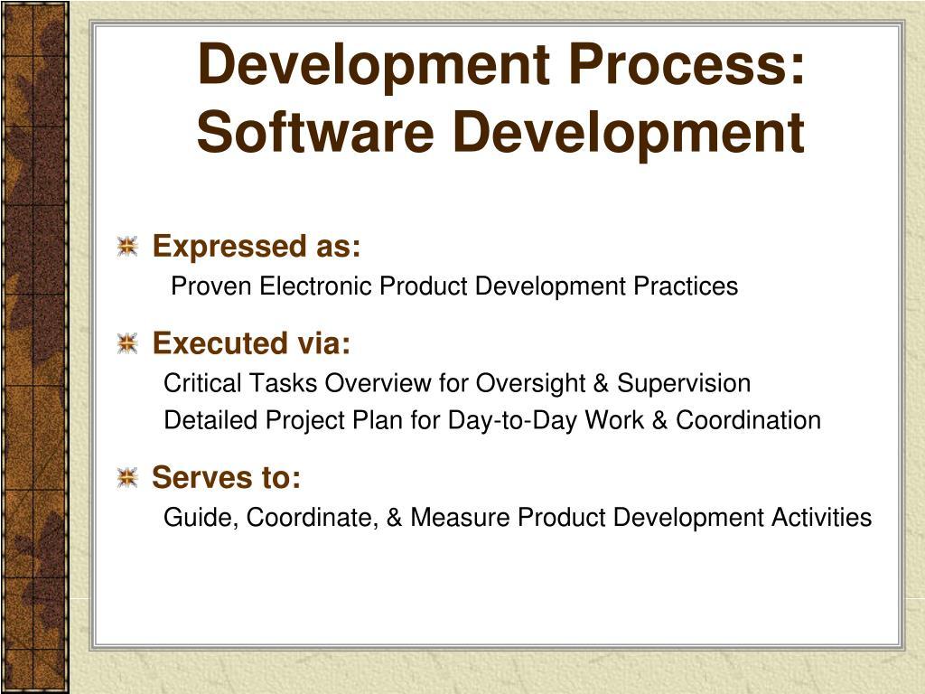 Development Process: Software Development
