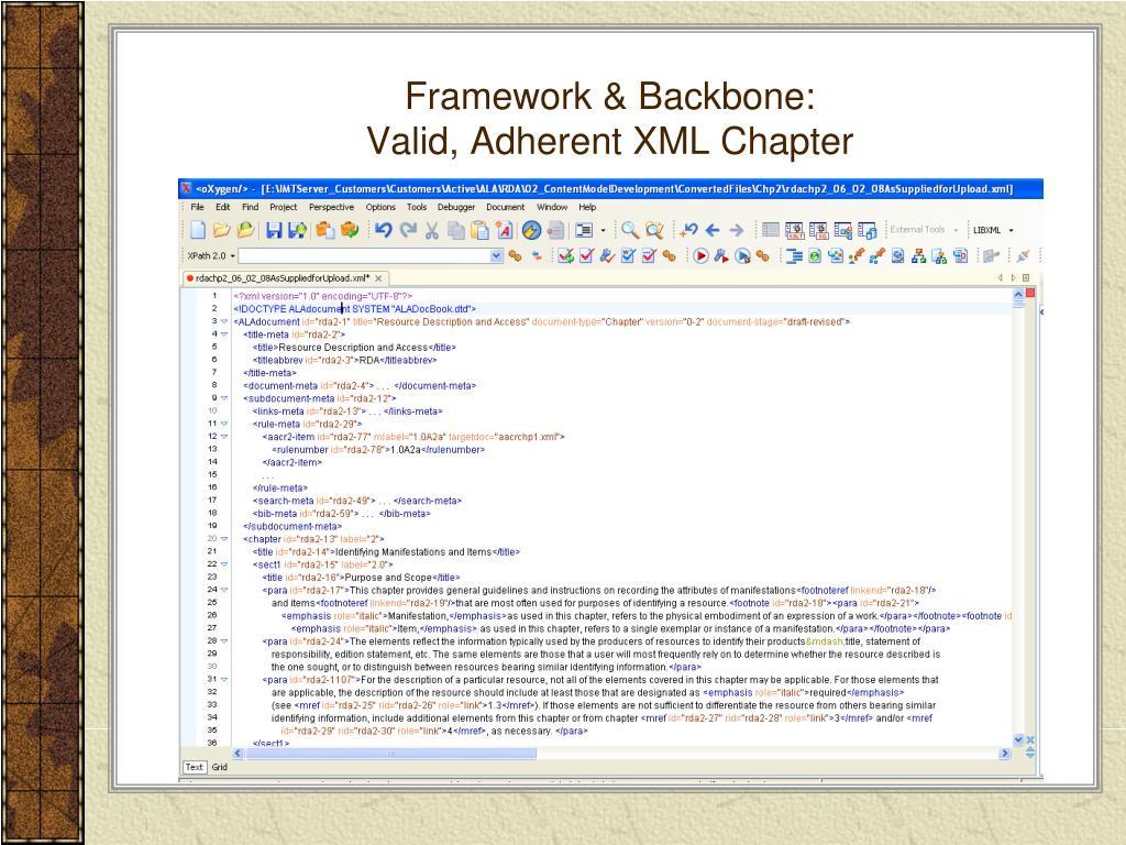 Framework & Backbone: