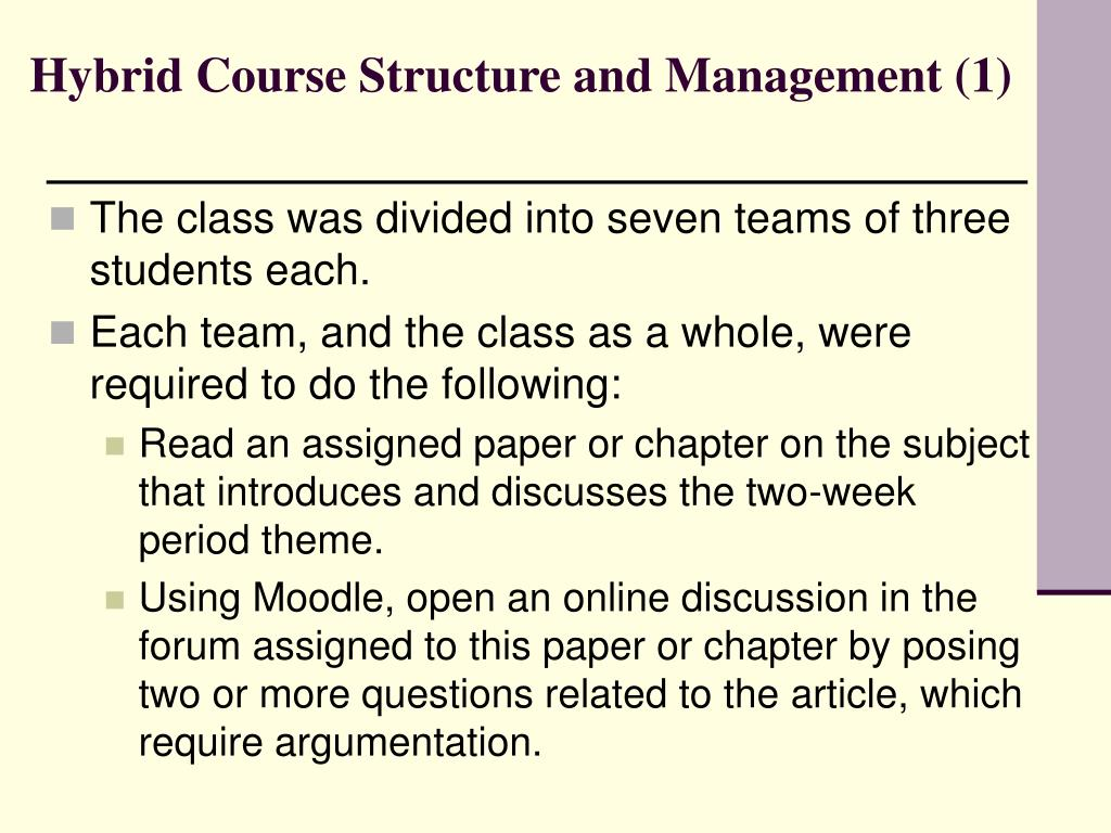 Hybrid Course Structure and Management (1)