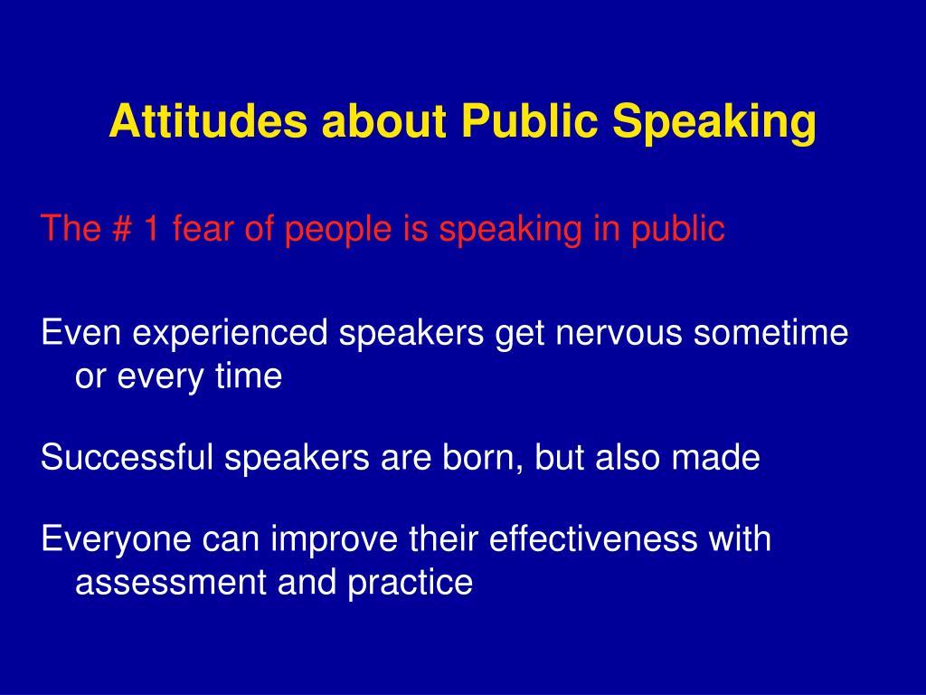 Attitudes about Public Speaking