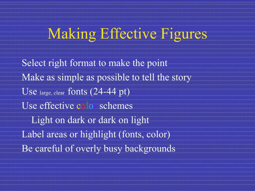 Making Effective Figures