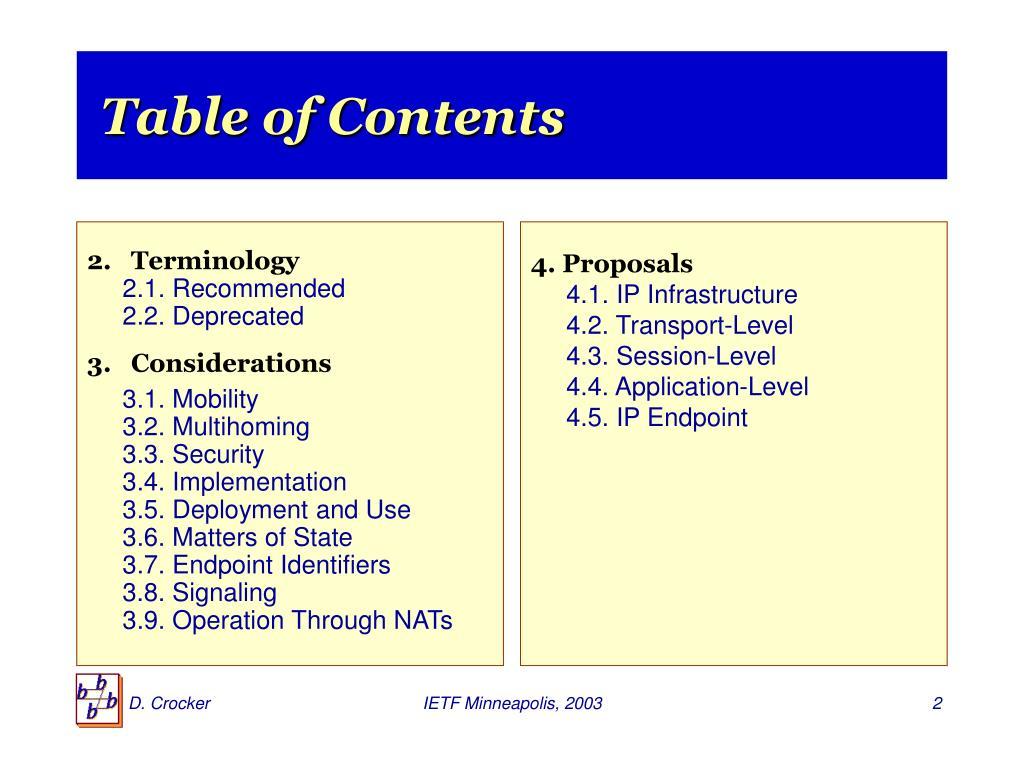 2.   Terminology