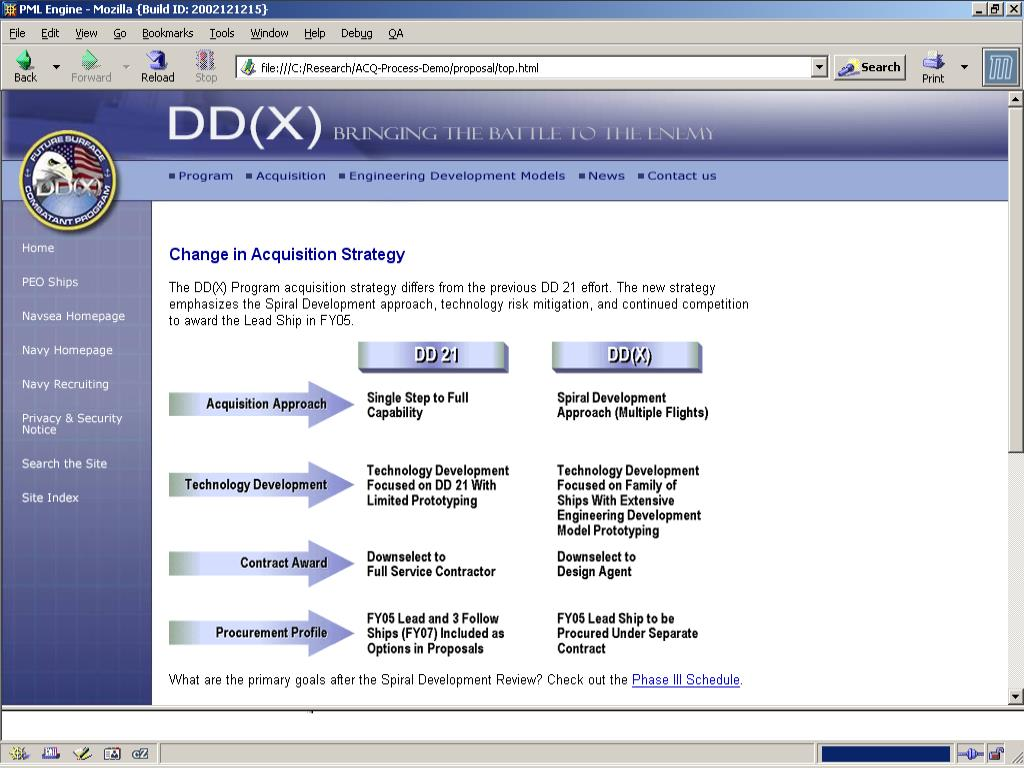 DD(X) Acquisition Guidelines