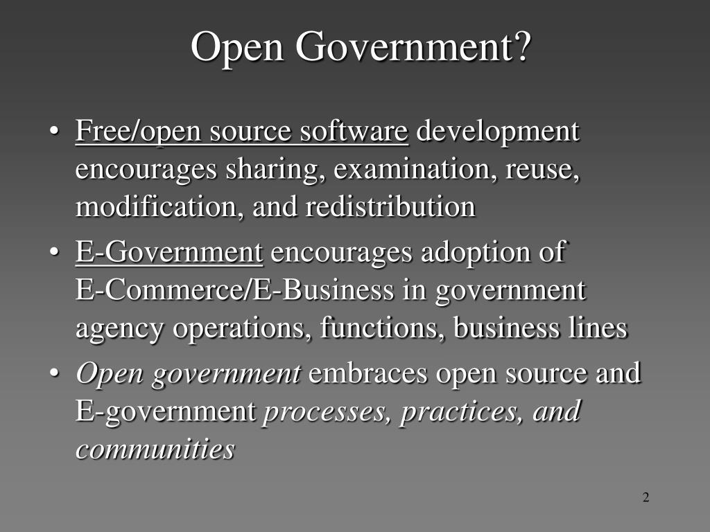 Open Government?