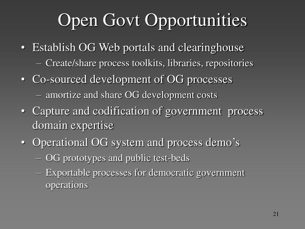 Open Govt Opportunities