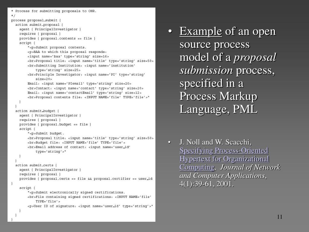 Open source process example