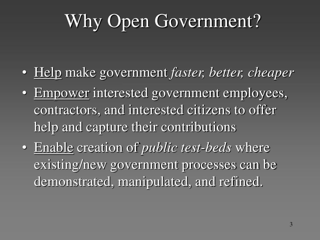 Why Open Government?