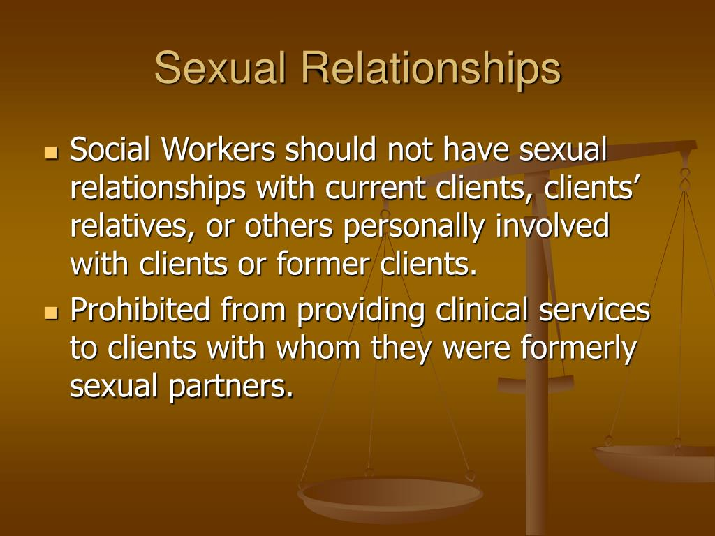 social workers dating clients