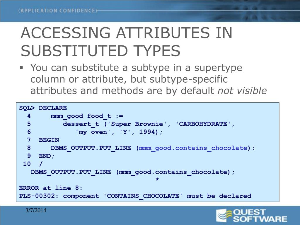 ACCESSING ATTRIBUTES IN SUBSTITUTED TYPES