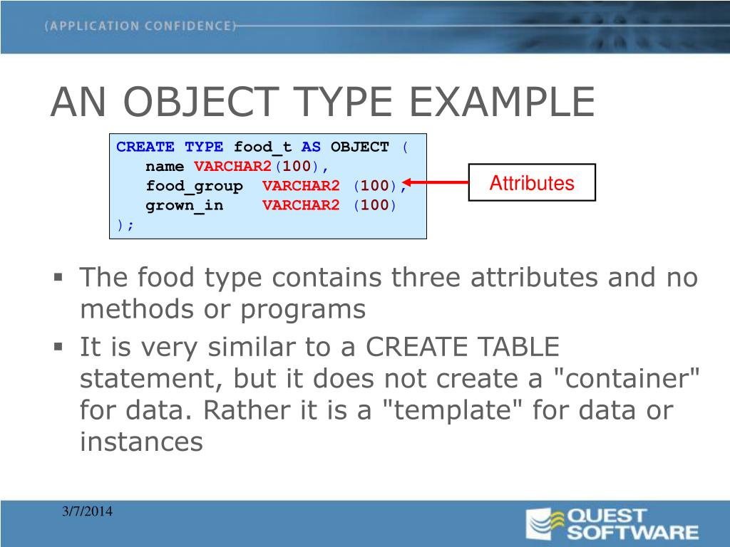 AN OBJECT TYPE EXAMPLE