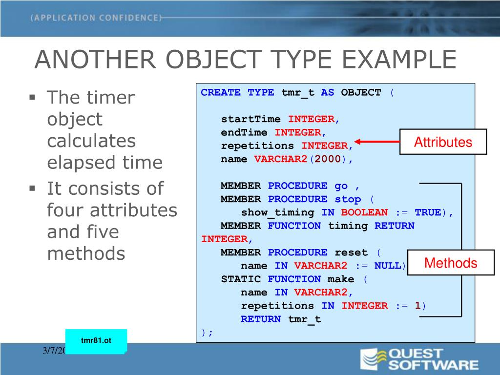 ANOTHER OBJECT TYPE EXAMPLE