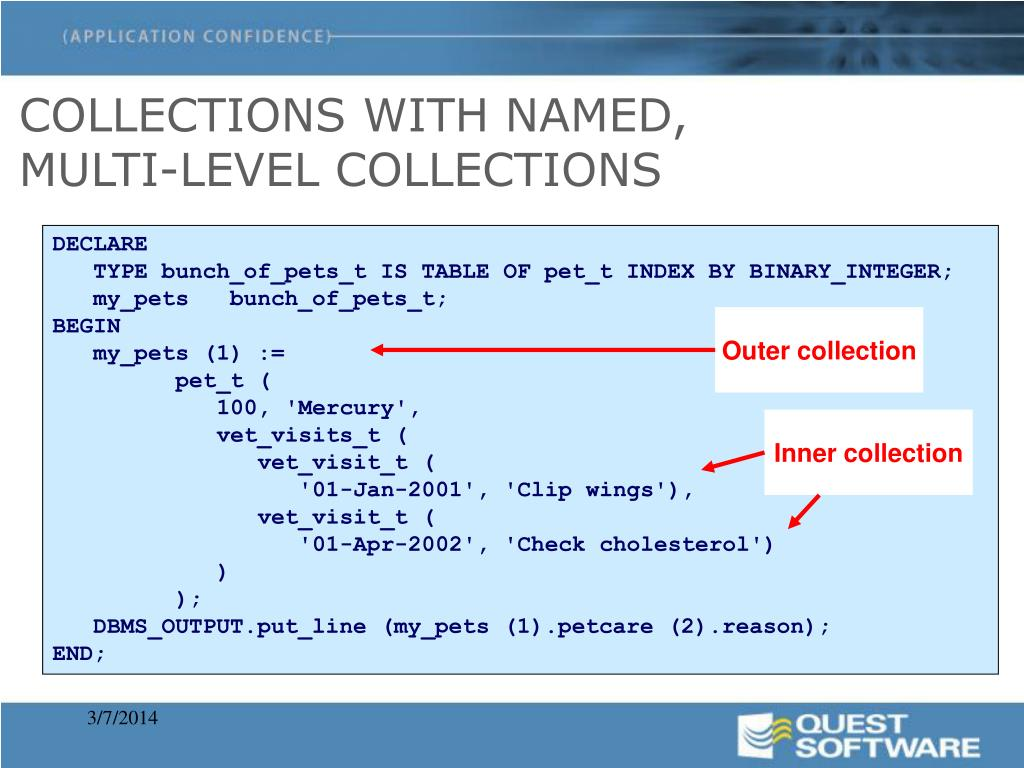 COLLECTIONS WITH NAMED,