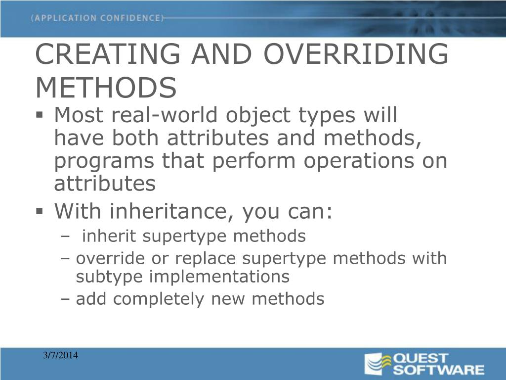 CREATING AND OVERRIDING METHODS