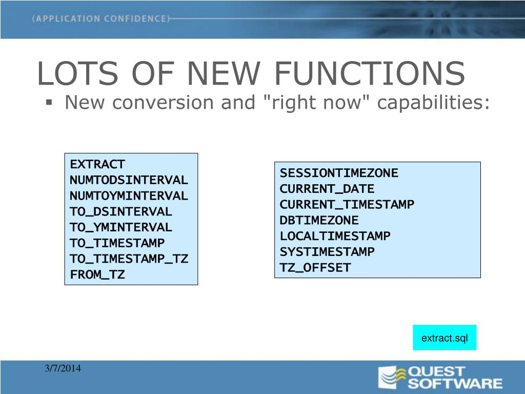LOTS OF NEW FUNCTIONS