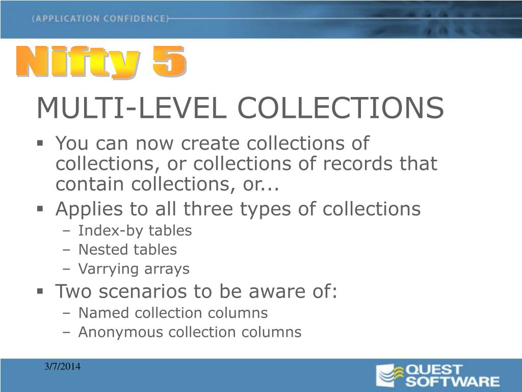 MULTI-LEVEL COLLECTIONS