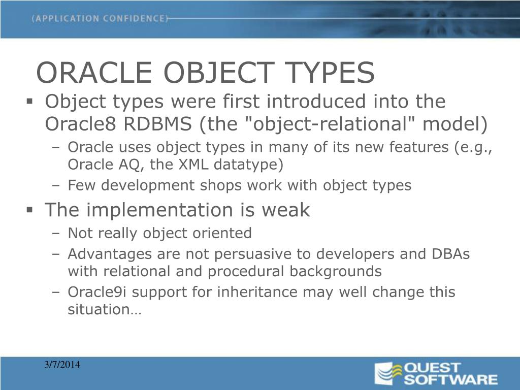 ORACLE OBJECT TYPES