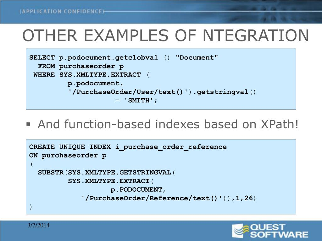 OTHER EXAMPLES OF NTEGRATION