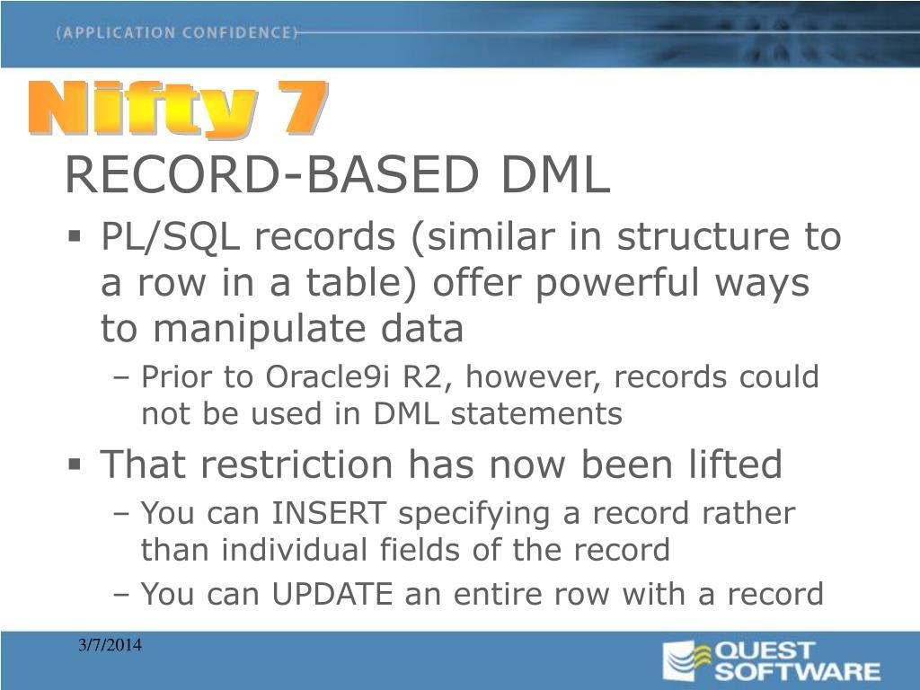 RECORD-BASED DML