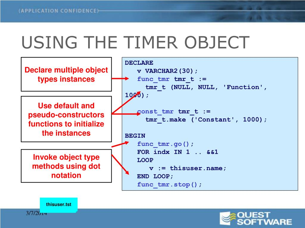 USING THE TIMER OBJECT